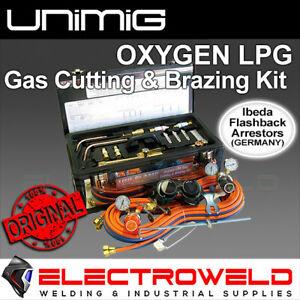 UNIMIG Uni-Flame Oxygen LPG Gas Cutting and Brazing Welding Kit Propane KKOXY2