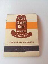 Arbys roast beef Front strike Unstruck matchbook new concept