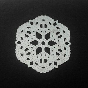 10 Large Stainless Steel Thin Snowflake Filigree Pendant Stampings Embellishment