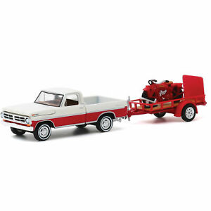 1972 FORD F-100 TRUCK & TRAILER & 1920 INDIAN MOTORCYCLE 1/64 GREENLIGHT 32200 A