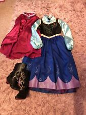Disney Store Anna Dress And Shoes Fancy Dress 7-8 Years