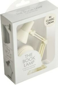 2xThe Book Lamp. Classic cream. Brand New. Book Reading light.