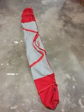 "Vintage L.L. Bean Ski Bag Red / Gray ll Bean For Skiing Travel Duffle 87"""