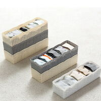 Plastic Bra Socks Underwear Drawer Cosmetic Container Divider Storage Boxes NEW