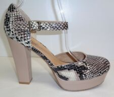 Unlisted Kenneth Cole Womens Full Circle Natural Snake Skin HEELS 10 M Shoes