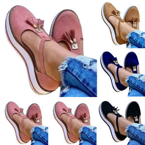 Womens Closed Toe Flat Sandals Pumps Summer Platform Ankle Strap Casual Shoes