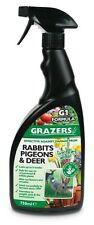 Grazers Natural Pigeon Rabbit Deer Geese Deterrent 750ml Garden Outdoor Spray