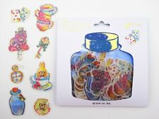 48 Japanese Alice in Wonderland sticker flakes! The Cheshire Cat & more!