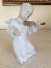 LLADRO SPAIN PORCELAIN CHINESE ANGEL WITH VIOLIN  F. GARCIA