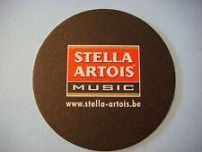 Beer Coaster ~*~ STELLA ARTOIS Brewery Music: Dour,Rock Werchter,Marktrock FEST