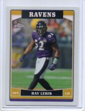 RAY LEWIS Ravens 2006 Topps Chrome #56 Refractor Parallel Card