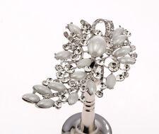 2 x 60x10mm Glass Crystal Silver Pearl Curtain trattenere MURO GANCIO Nappa TIE BA