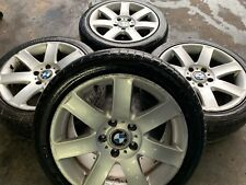 "4X GENUINE BMW 3 SERIES 17"" E36 E46 STYLE 44 ALLOY WHEELS & GOOD TYRES - NO RESE"