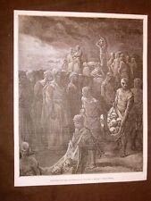 Incisione Gustave Dorè del 1884 Riccardo I d'Inghilterra decapitazione Crociata