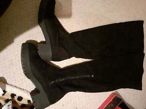 Black Thigh High Over the Knee Chunky Boots size 7