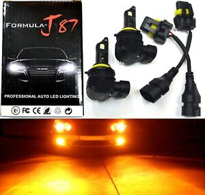 LED Kit M10 100W 9006 HB4 Orange Amber Two Bulbs Fog Light Replacement Stock Fit