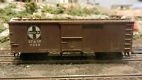 Roundhouse MDC HO Old Time 36' Boxcar, Santa Fe, Upgraded,Weathered, Exc