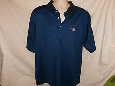 New US Open 2008 Official Torrey Pines USGA Polo Golf Shirt Blue Black Striped