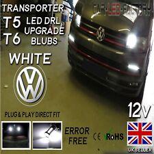 VW T5 T6 Transporter DRL LED Daytime Running Canbus Upgrade Bulbs 33smd 6k WHITE