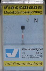 Viessmann Spur N 4417 Gleissperrsignal LEDs (chip-On-Board) Patentsteckfuss OVP