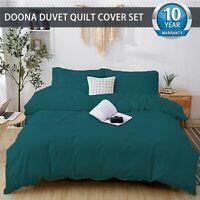 Green Doona Duvet Quilt Cover Set Queen/King Size Flat/Fitted Sheet Pillowcases