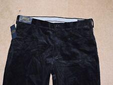 POLO RALPH LAUREN CLASSIC FIT Mens Flat Front Corduroy Pants Navy Size 36x32 NWT