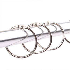 12PCS Dia 5.5cm Stainless Steel Metal Shower Curtain Rod O Ring Drapery Hoop