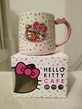 Brand New Hello Kitty Cafe Exclusive Sprinkles Bow Mug 16 oz RARE