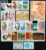 Monaco 2001 beautiful stamp year set MNH catalogue value SG £95 = A$170