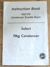 Hoover HSC170 Tumble Dryer Operating Instructions User Manual Guide