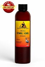 Australian Emu Oil Organic Triple Refined by H&B Oils Center 100% Pure 8 Oz