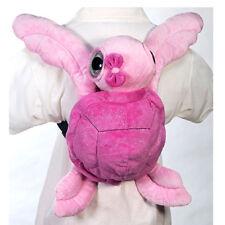 "Backpack Bag Pink Sea Turtle Zoo Travel Animal 15"" Plush Pillow Doll - GIRLS NEW"