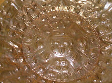 Vintage Rustic Etched & Hammered Tribal Copper Metal Plate for Hanging – 11.5 in
