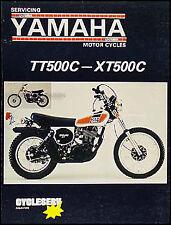 Yamaha TT500 and XT500 Repair Manual Enduro XT TT 500 Motorcycle CycleServ Shop