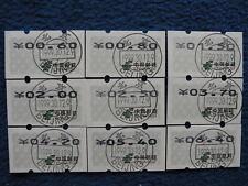 P.R China Naglar ATM Blue Imprint Set of 9 with Cancel