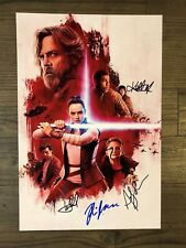 STAR WARS: The Last Jedi (2017) signed 12X18 photo ~ HAMILL ~ CHRISTIE ~ 5 sigs