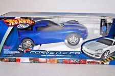 Hot Wheels Corvette Radio Controlled C6 Blue RC Car Mattel Toy