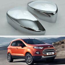 2Pcs Chrome Side Mirror Caps Covers Set Trim Molding for Ford Ecosport 2013 2014