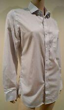 J CREW Menswear White & Blue Check 100% Cotton Slim Fit Collared Casual Shirt S