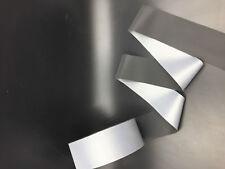 10FT black Reflective Tape Safty Strip Sew 5cm 2'' Trim Gray Synth Fabric 3M