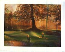 ART PRINT~Trap Shot By Robert Harnett Fall Day PGA Tour Inspirational Lithograph