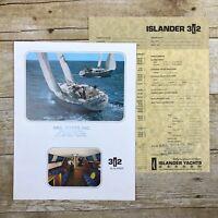 Vintage Sailboat Dealer Sales Brochure Islander Yachts 32 Price List Boating