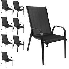 Stapelbare Gartenstühle Terrassenstuhl Stapelstuhl Balkonstuhl Schwarz 8 Stück