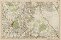 BECKENHAM Sydenham Penge Anerley South Norwood 1964 old vintage map chart