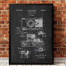 Camera Patent Vintage Print Abstract Canvas Painting Retro Camera Blueprint Arts