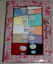 NWT Plus Size 14 or 7x Women's Lot 12 Pair Cotton Pretty Colors Briefs Underwear