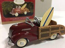 Hallmark 1939 Garton Ford Station Wagon Woody Club Edition Ornament Surfboard