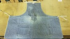 Vintage Original 1950s Hercules Union Made Denim Work Wear Apron Striped
