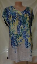 New Autograph top size 16 blue yellow floral print long top NWT