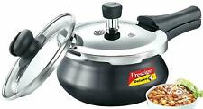 Prestige Deluxe Duo Plus Induction Base Pressure Cooker Handi With Glass Lid 2L